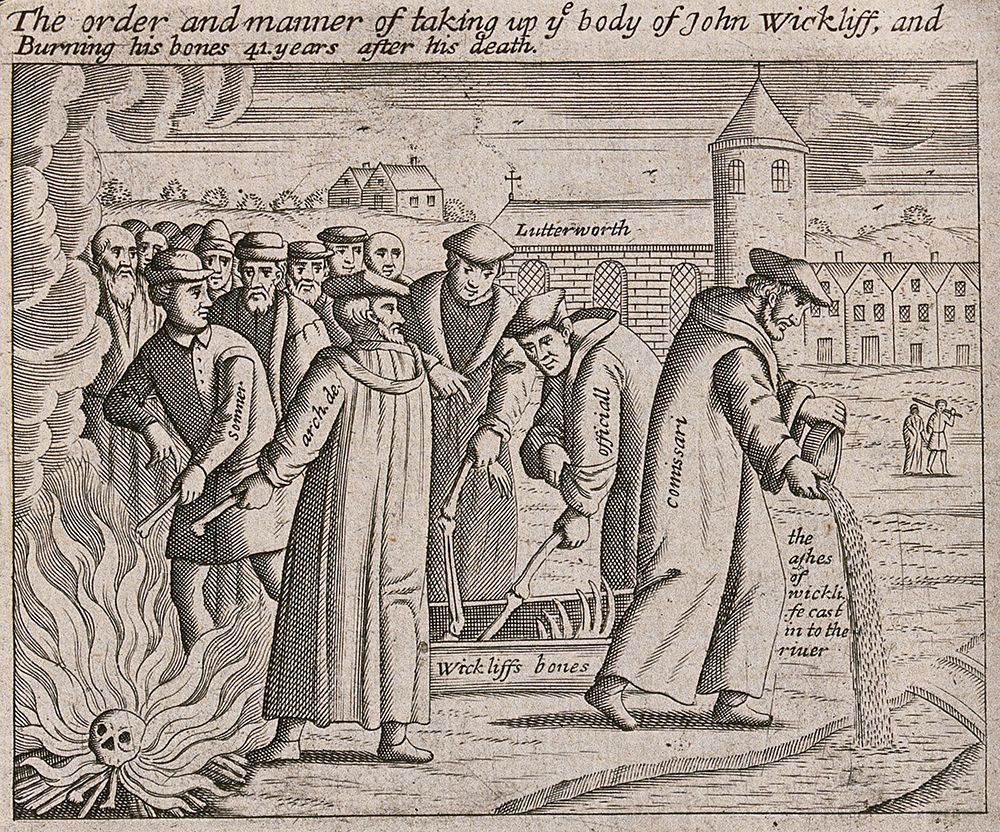 The burning of Wycliffe's bones 41 years after his death
