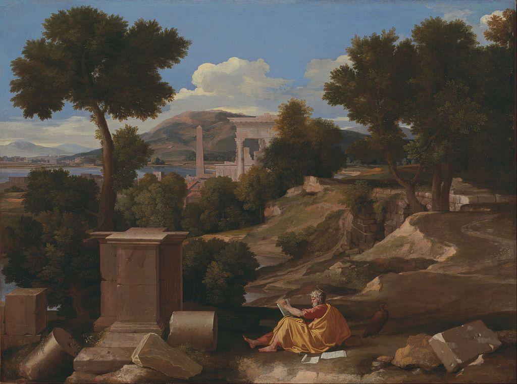 John the Revelator on the isle of Patmos