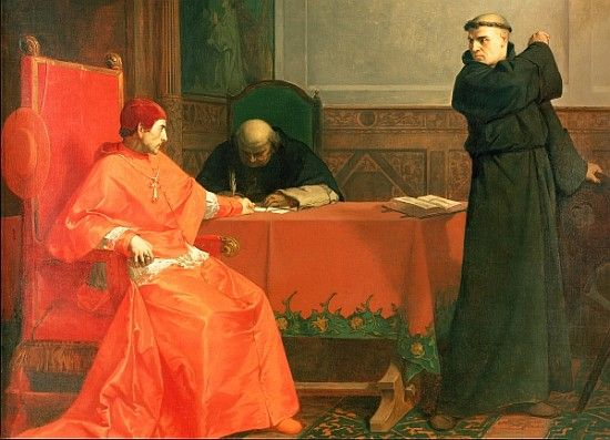 Luther before the Papal Legate Thomas Cajetan