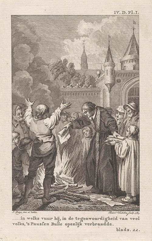 Luther burning the Papal Bull