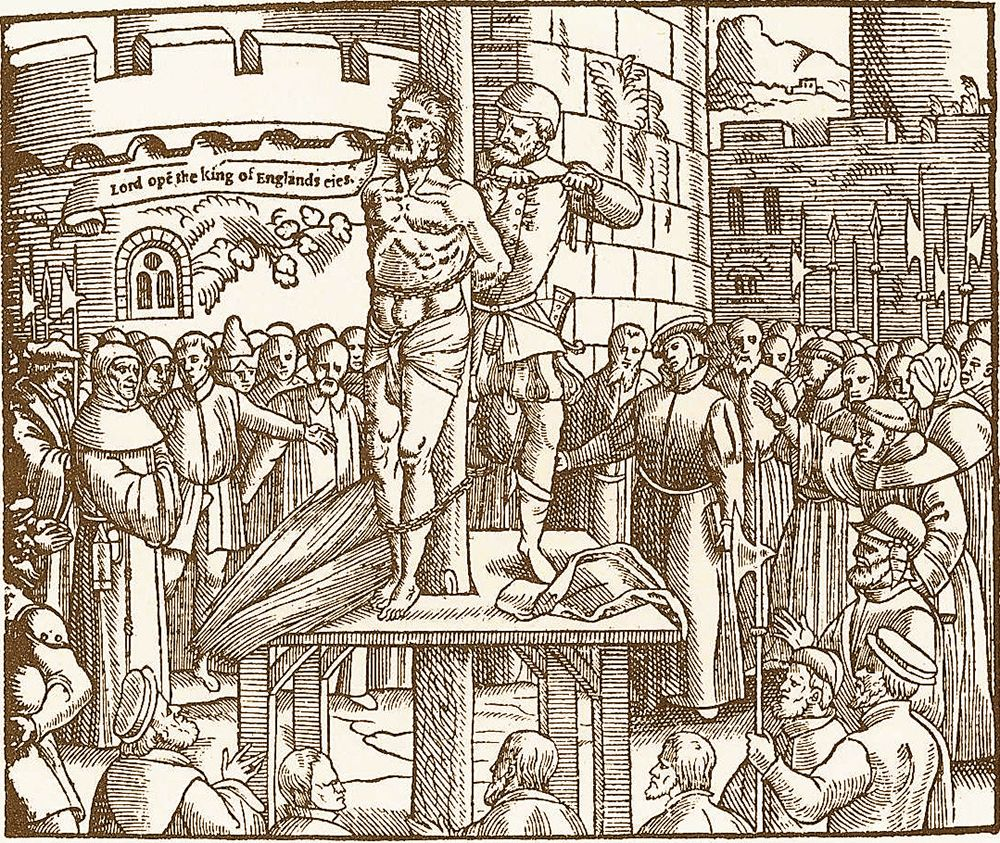 The burning of Tyndale at the stake