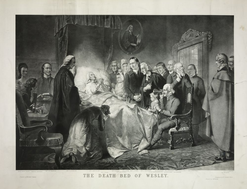 Wesley on his deathbed