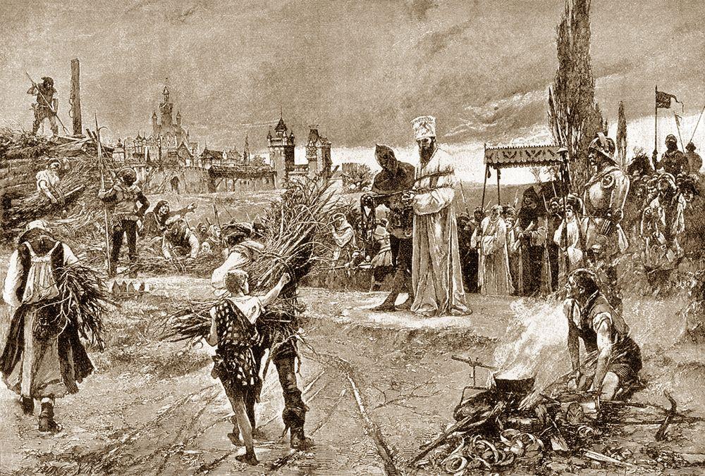 The burning at the stake of John Huss