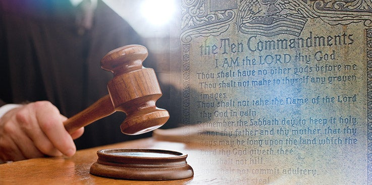 Are the Commandments Legal?